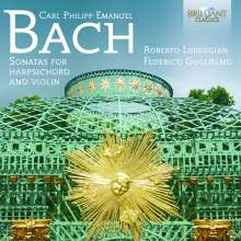 Carl Philipp Emanuel Bach (1714-1788): Sonaten für Violine & Cembalo Wq.71-74,76, CD