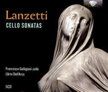 Salvatore Lanzetti (1710-1780): Sonaten für Cello & Bc, 5 CDs