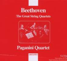 Ludwig van Beethoven (1770-1827): Streichquartette Nr.1,2,4,5,7-10,14-16, 5 CDs