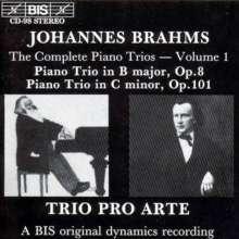 Johannes Brahms (1833-1897): Klaviertrios Nr.1 & 3, CD