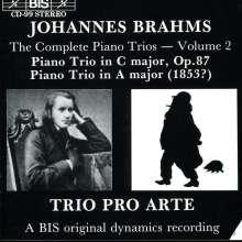 Johannes Brahms (1833-1897): Klaviertrio Nr.2 op.87, CD