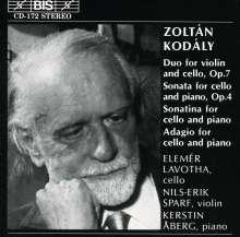 Zoltan Kodaly (1882-1967): Sonate f.Cello & Klavier op.4, CD