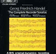 Georg Friedrich Händel (1685-1759): Sonaten für Blockflöte & Bc Nr.1-6, CD