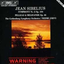 Jean Sibelius (1865-1957): Symphonie Nr.6, CD