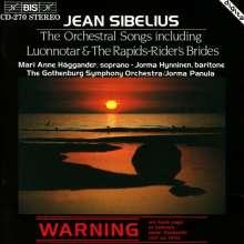 Jean Sibelius (1865-1957): Sämtliche Orchesterlieder, CD