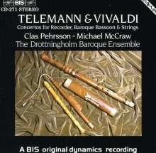 Georg Philipp Telemann (1681-1767): Konzert für Blockflöte & Fagott F-dur, CD