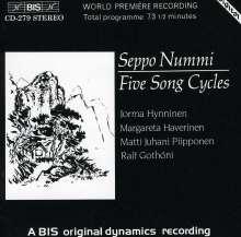 Seppo Nummi (1932-1981): 5 Liederzyklen, CD