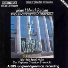 Johan Helmich Roman (1694-1758): Violinkonzerte in Es,d,f, CD