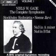 Niels W. Gade (1817-1890): Symphonien Nr.3 & 4, CD