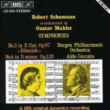 Robert Schumann (1810-1856): Symphonien Nr.3 & 4 (Orch.G.Mahler), CD