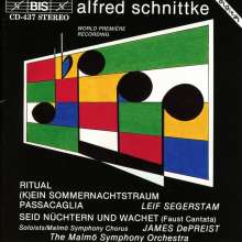 """Alfred Schnittke (1934-1998): Faust-Kantate """"Seid nüchtern und wachet"""", CD"""