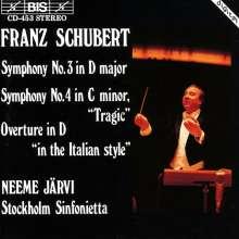 Franz Schubert (1797-1828): Symphonien Nr.3 & 4, CD