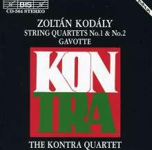 Zoltan Kodaly (1882-1967): Streichquartette Nr.1 & 2, CD
