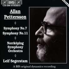 Allan Pettersson (1911-1980): Symphonien Nr.7 & 11, CD