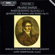 Franz Danzi (1763-1826): Bläserquintette op.68 Nr.1-3, CD