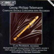 Georg Philipp Telemann (1681-1767): Doppelkonzerte mit Blockflöte, CD