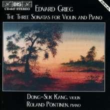 Edvard Grieg (1843-1907): Sonaten für Violine & Klavier Nr.1-3, CD