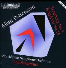 Allan Pettersson (1911-1980): Symphonien Nr.3 & 15, CD