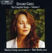 Edvard Grieg (1843-1907): Sämtliche Lieder Vol.2, CD