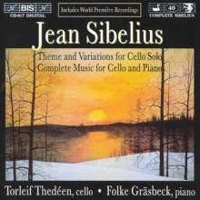 Jean Sibelius (1865-1957): Sämtliche Werke f.Cello & Klavier, CD