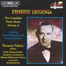 Ernesto Lecuona (1895-1963): Sämtliche Klavierwerke Vol.4, CD