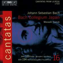 Johann Sebastian Bach (1685-1750): Kantaten Vol.16 (BIS-Edition), CD
