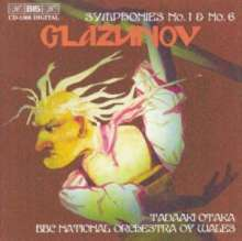 Alexander Glasunow (1865-1936): Symphonien Nr.1 & 6, CD