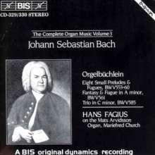 Johann Sebastian Bach (1685-1750): Sämtliche Orgelwerke Vol.3, 2 CDs