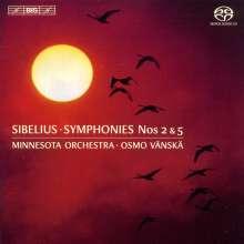 Jean Sibelius (1865-1957): Symphonien Nr.2 & 5, SACD