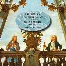 Johan Helmich Roman (1694-1758): Sonaten für Blockflöte, Cello, Cembalo & Gitarre Nr.1-5, SACD