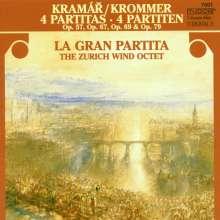 Franz Krommer (1759-1831): Oktett-Partiten für Bläser opp.57,67,69,79, CD