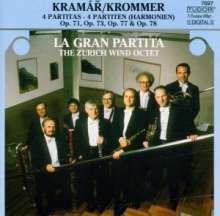 Franz Krommer (1759-1831): Oktett-Partiten für Bläser op.71,73,77,78, CD