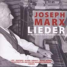 Joseph Marx (1882-1964): Lieder, CD