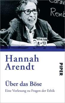 Hannah Arendt: Über das Böse, Buch