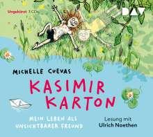 Michelle Cuevas: Kasimir Karton - Mein Leben als unsichtbarer Freund, 3 CDs