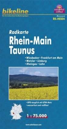 Bikeline Radkarte Deutschland Rhein-Main Taunus 1 : 75 000, Diverse