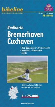 Bikeline Radkarte Deutschland Bremerhaven Cuxhaven 1 : 75 000, Diverse