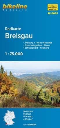 Bikeline Radkarte Deutschland Breisgau 1 : 75 000, Diverse