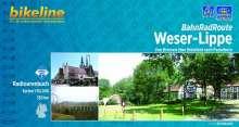 Bikeline BahnRadRoute Weser-Lippe von Bremen über Bielefeld nach Paderborn 1 : 50 000, Buch