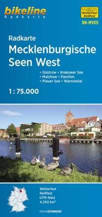 Bikeline Radkarte Deutschland Mecklenburgische Seen West 1 : 75 000, Diverse