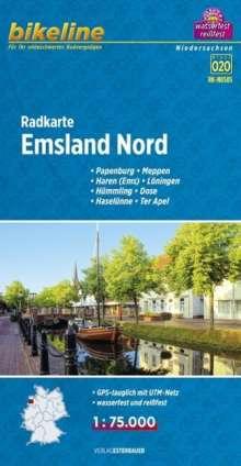 Bikeline Radkarte Emsland Nord (NDS05) 1 : 75 000, Diverse