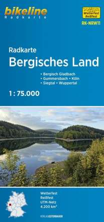 Bikeline Radkarte Bergisches Land 1 : 75 000, Diverse