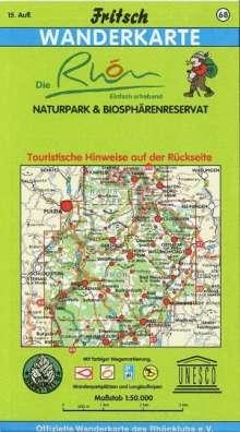 Naturpark & Biosphärenreservat Rhön 1 : 50 000. Wanderkarte, Diverse