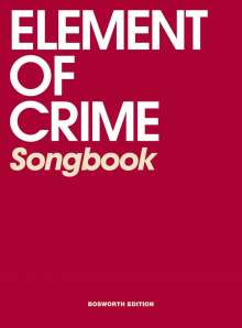 Element of Crime Songbook, Noten