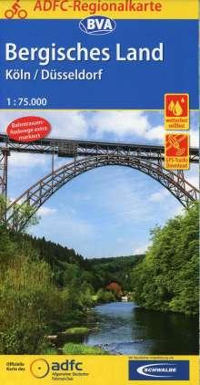 ADFC-Regionalkarte Bergisches Land / Rheinland 1 : 75 000, Diverse