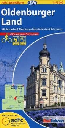 ADFC-Regionalkarte Oldenburger Land mit Tagestouren-Vorschlägen 1 : 75.000, Diverse