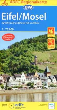 ADFC-Regionalkarte Eifel/ Mosel mit Tagestouren-Vorschlägen, 1:75.000, Diverse