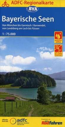 ADFC-Regionalkarte Bayerische Seen, 1:75.000, Diverse
