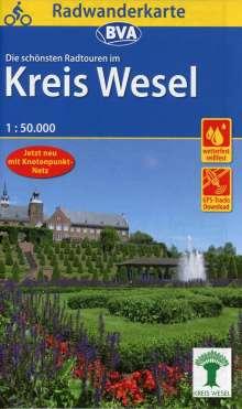 Radwanderkarte BVA Radwandern im Kreis Wesel am Niederrhein 1:50.000, Diverse