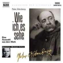 Altenberg,Peter:Wie ich es sehe, CD
